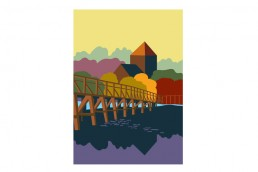 Toll Bridge, Shoreham. Poster design