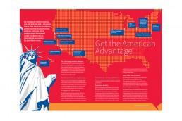 American college infographic design