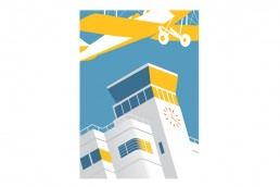 Shoreham Airport, vintage poster design