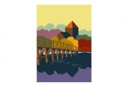 Toll Bridge, Shoreham. Poster design